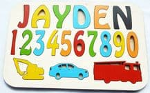 personalised Children's name puzzle up to 8 letters educational wooden toy TRH