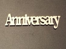 wooden craft ANNIVERSARY shapes, laser cut 3mm mdf embellishments