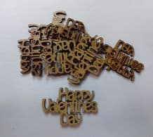 wooden craft HAPPY VALENTINES DAY shapes, laser cut 3mm mdf embellishments
