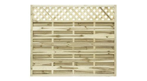 Elite Malo Lattice Top Fence Panel