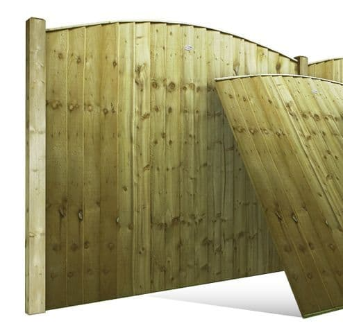 Vertilap Arched Double Sided Fence Panel