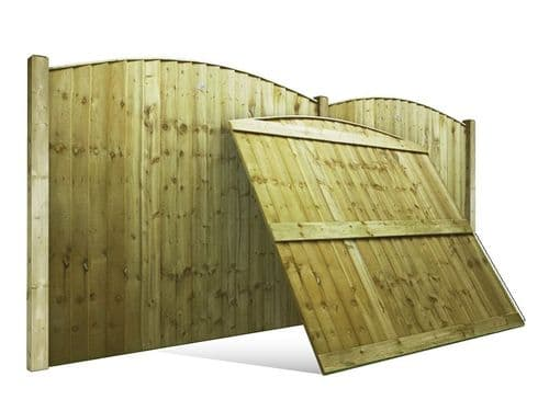 Vertilap Arched Single Sided Fence Panel