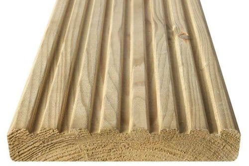 Wider Deck Board 32x150mm (27x145mm) - Smooth & Grooved Reversible