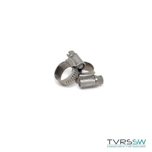 Marine Grade Hi Grip Stainless Steel Jubilee Hose Clip 11-16MM [Pair]