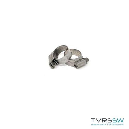 Marine Grade Hi Grip Stainless Steel Jubilee Hose Clip 17-25MM  [Pair]