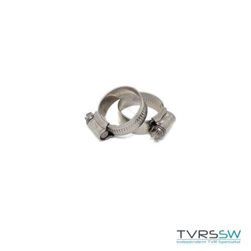 Marine Grade Hi Grip Stainless Steel Jubilee Hose Clip 22-30MM [Pair]