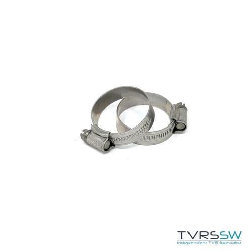 Marine Grade Hi Grip Stainless Steel Jubilee Hose Clip 30-40MM [Pair]