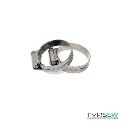 Marine Grade Hi Grip Stainless Steel Jubilee Hose Clip 35-50MM [Pair]