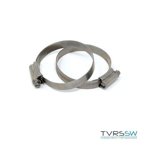 Marine Grade Hi Grip Stainless Steel Jubilee Hose Clip 50-70MM [Pair]