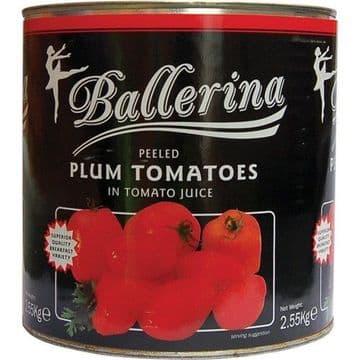 Plum Tomatoes 6 X 2.55 Kg