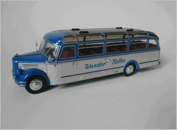 IXO Hachette HC60 1/43 Scale BORGWARD BO 4000 Bus Coach Germany Wander Falke 52
