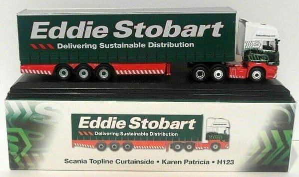 Altas Oxford JV9102 1/76 Eddie Stobart Scania Topline Curtainside Karen Patricia