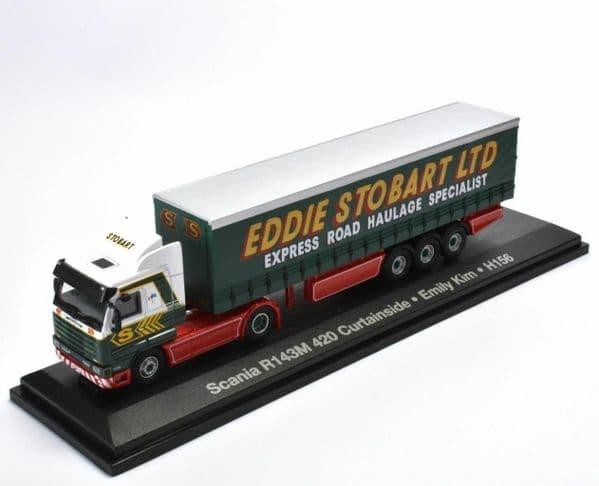 Altas Oxford JV9119 1/76 OO Eddie Stobart Scania R143M 420 Curtainside Emily Kim