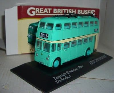 Atlas Corgi JB15 British Buses 1/76 OO Sunbeam Roe Trolleybus Teeside North Ormesby