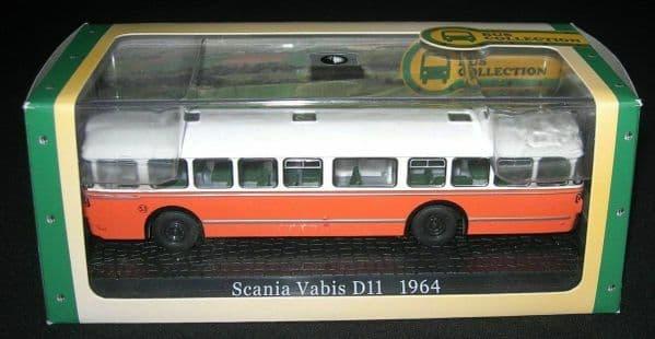 ATLAS DeAgostini JE28 1/72 Scale Scania Vabis D 11 1964 Bus Coach Orange / White MIMB