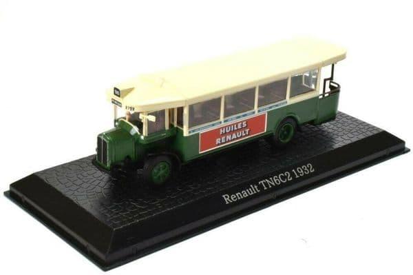 ATLAS DeAgostini JY33 1/72 Scale Renault TN6C2 Paris Open Back Bus Coach 1932