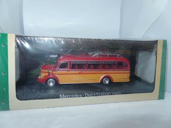 ATLAS DeAgostini JY36 1/72 Scale Bus Mercedes-Benz O 3500 1949 Red & Orange