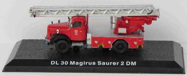 ATLAS DeAgostini LZ01 1/72 Scale DL 30 Magirus Saurer 2 DM Engine German Fire Brigade