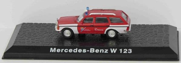 ATLAS DeAgostini LZ04 1/72 Scale Mercedes-Benz W123 Fire Chiefs Car German Fire Brigade