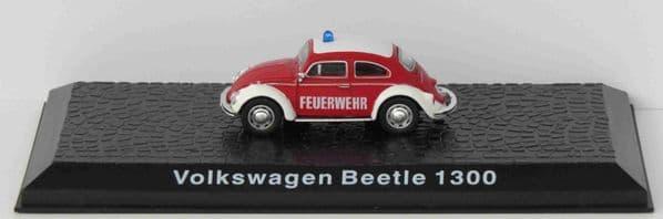 ATLAS DeAgostini LZ05 1/72 Scale Volkswagen Beetle 1300 Fire Chiefs Car German Fire Brigade