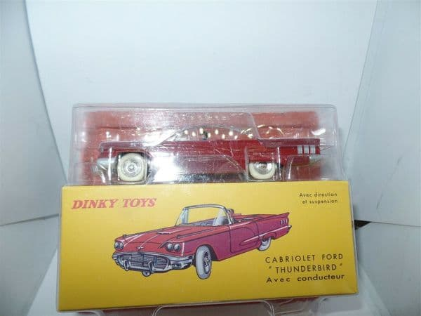 Atlas French Dinky 555 Ford Thunderbird Cabriolet + Driver in Red