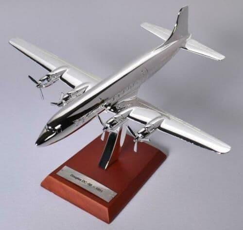 Atlas HB23 1/200 Scale Silver Aeroplane Douglas DC-6B 1951