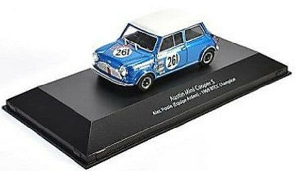 ATLAS HR10 1/43 SCALE Austin Mini Cooper S - BTCC Champion 1969 #261 Alec Poole