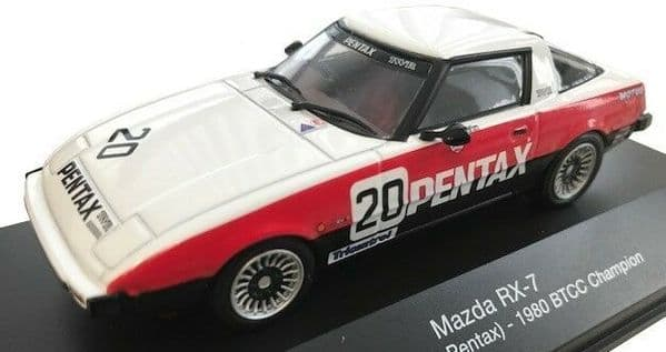 ATLAS HR11 1/43 SCALE Mazda RX 7 - BTCC Champion - 1980  20 Pentax - Win Percy