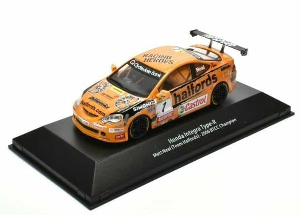 ATLAS HR12 1/43 SCALE Honda Integra Type-R BTCC Champion Matt Neal 2006 Halfords