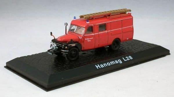 Atlas HY06 1/72 Scale Fire Engine Hanomag L28  Werksfeuerwehr Toging Fire Dept