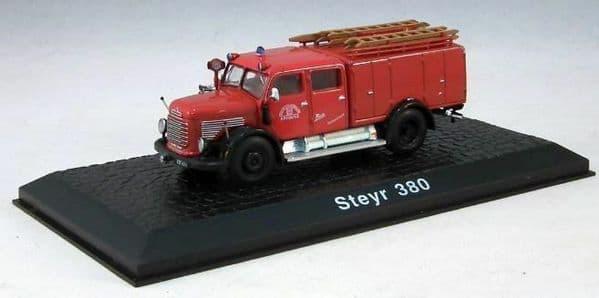 Atlas HY15 1/72 Scale Fire Engine Steyr 380 - Freiw Feuerwehr Bregenz Brigade