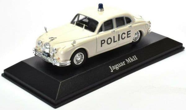 Atlas JA01 1/43 O Scale British Police Jaguar MkII Bedfordshire