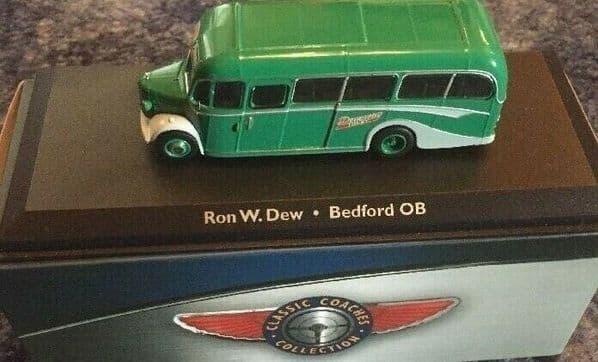 Atlas JE03 1/72 Scale Bedford OB Duple Vista Coach Dewsway Tours Ron W Dew NEW