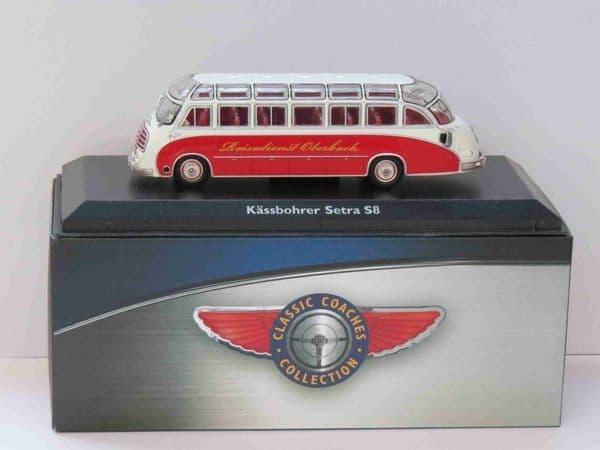 Atlas JE05 1/76 Scale Classic Coaches Kässbohrer Setra S8 Coach Reisedienst Oberbach