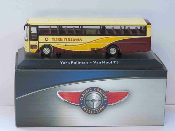 Atlas JE12 1/76 Scale Classic Coaches Van Hool T8 Coach York Pullman