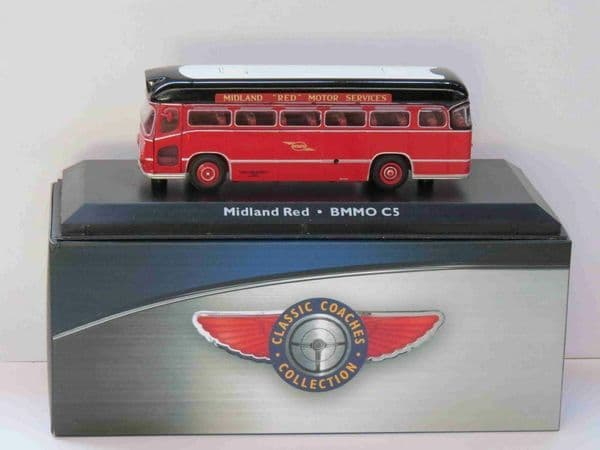 Atlas JE14 1/76 Scale Classic Coaches BMMO CM5T Midland Red Coach