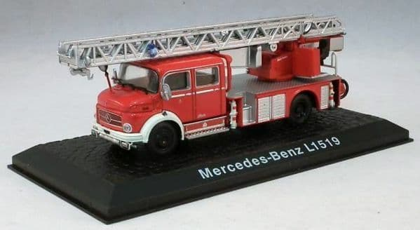 Atlas JW09 1/72 Scale Fire Engine Mercedes-Benz L1519 - Turntable Ladder