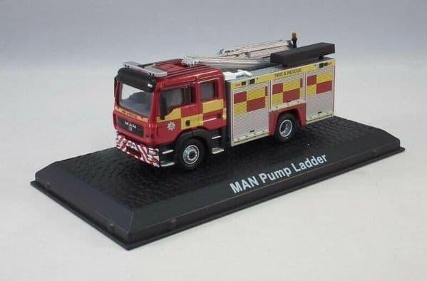 Atlas JW10 1/72 Scale Fire Engine MAN Pump Ladder Fire & Rescue