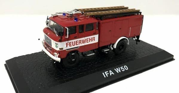 Atlas JW13 1/72 Scale Fire Engine Ifa W50 Feurwehr