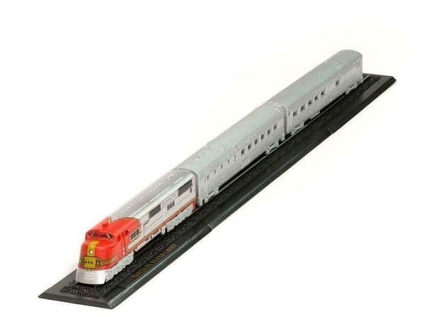 Atlas KB25 Great Trains Z gauge 1/220 Santa Fe Super Chief USA New in Case