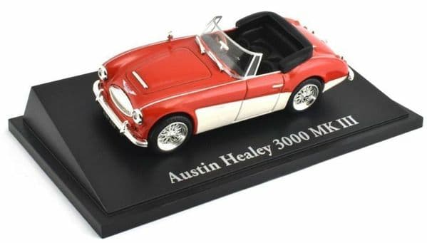 Atlas KL05 1/43 Scale Classic Sports Cars Austin Healey 3000 MK III Red White
