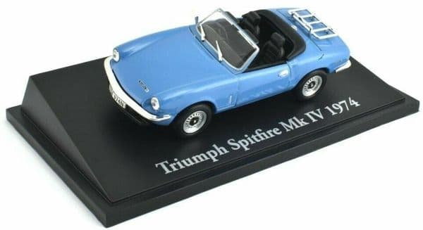 Atlas KL10 1/43 Scale Classic Sports Cars Triumph Spitfire Mk IV 1974 Light Blue