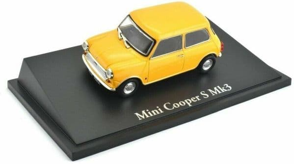 Atlas KL30 1/43 Scale Classic Sports Cars Mini Cooper S Mk3 - Yellow
