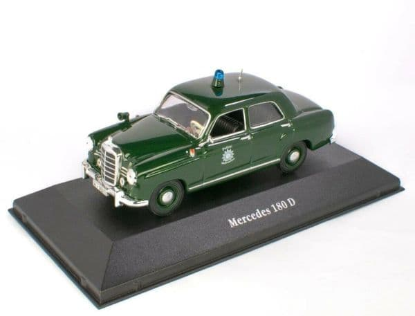 Atlas KW02 1/43 O Scale German Police Mercedes 180 D Deutschland - 1953