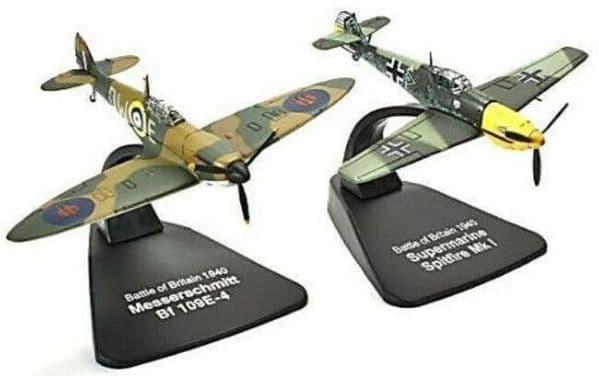 Atlas LF301 1/72 Fighters Messerschmitt Bf109E & Supermarine Spitfire MkI BoB