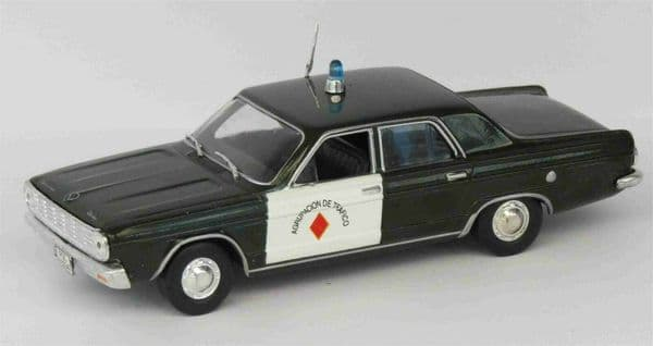 Atlas LH07 1/43 Scale Police Cars Dodge Dart South America Mint on Blister