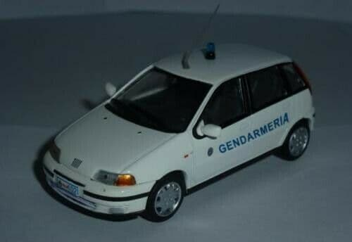Atlas LH09 1/43 Scale Police Cars Fiat Punto San Marino Mint on Blister