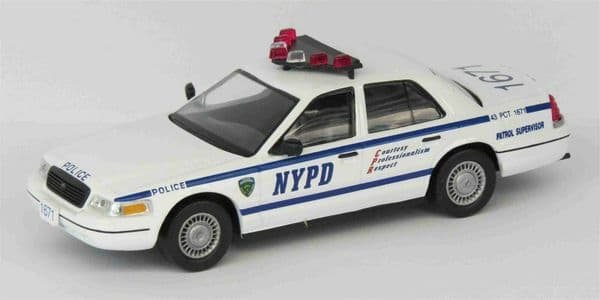 Atlas LH12 1/43 Scale Police Cars Ford Crown Victoria New York Mint on Blister