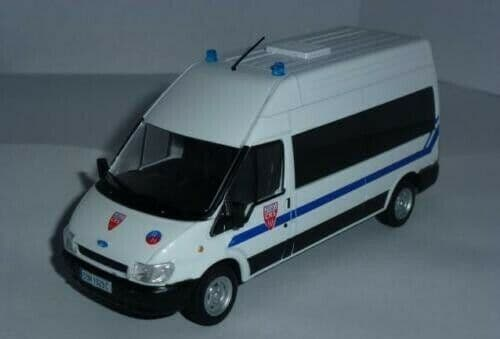 Atlas LH14 1/43 Scale Police Cars Ford Transit CRS France Mint on Blister