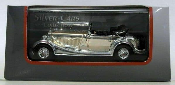 Auto Da Leggenda - Silver Chrome Cars Collection Mercedes SS 1933 - Silver